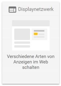 Google Ads Betreuung Displaynetzwerk