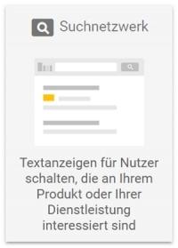 Google Ads Betreuung Suchnetzwerk