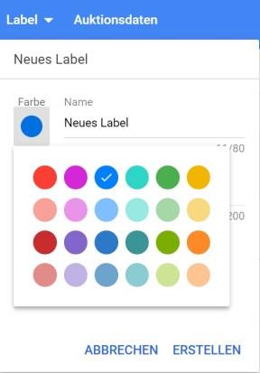 AdWords Optimierung Label erstellen