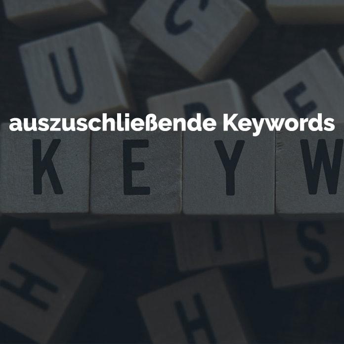auszuschließende Keywords - Google AdWords | perfecttraffic.de