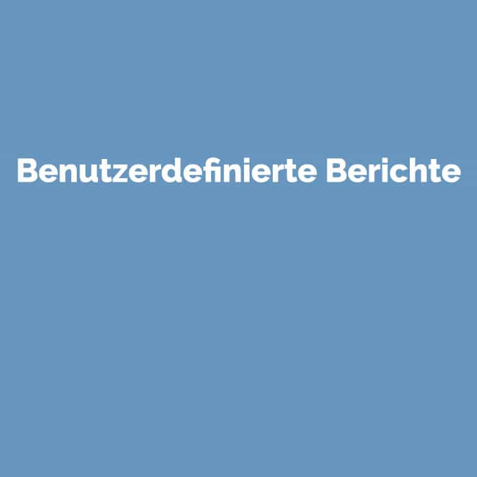 benutzerdefinierte Berichte | Glossar | perfecttraffic.de