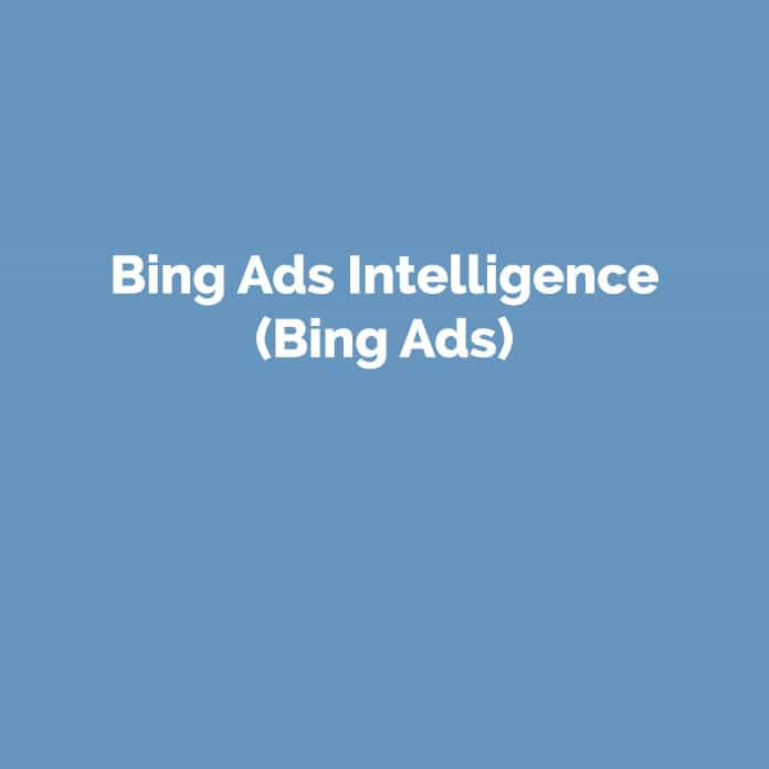 Bing Ads Intelligence | Online Glossar | perfecttraffic.de
