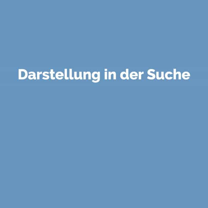 Darstellung in der Suche | Online Glossar | perfecttraffic.de