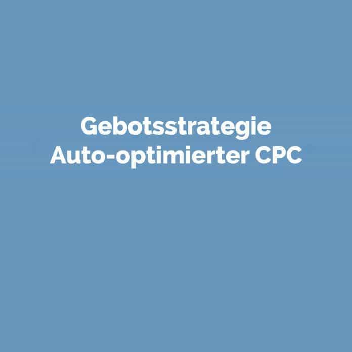 Gebotsstrategie auto-optimierter CPC | perfecttraffic.de