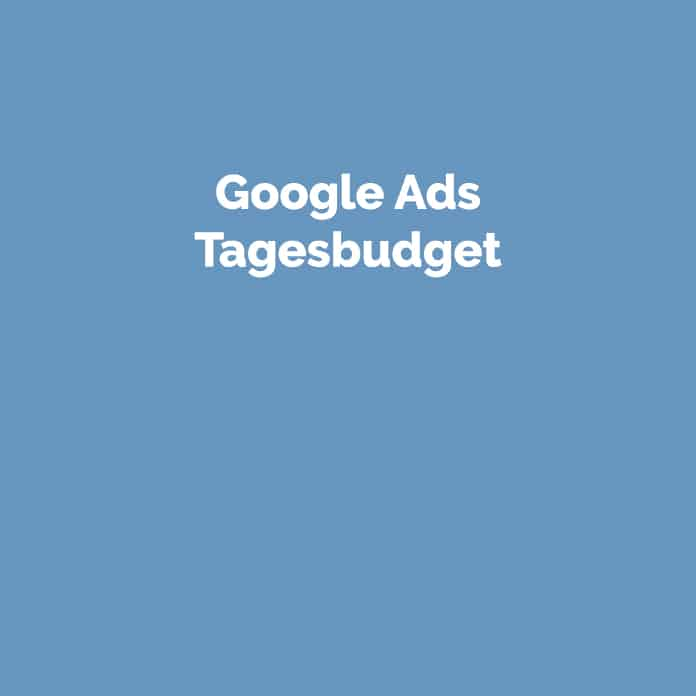 Google Ads Tagesbudget | Online Marketing | perfecttraffic.de