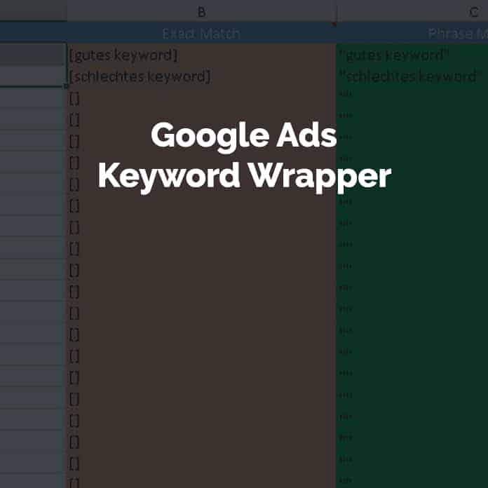 Google AdWords Keyword Wrapper - Excel Spreadsheet