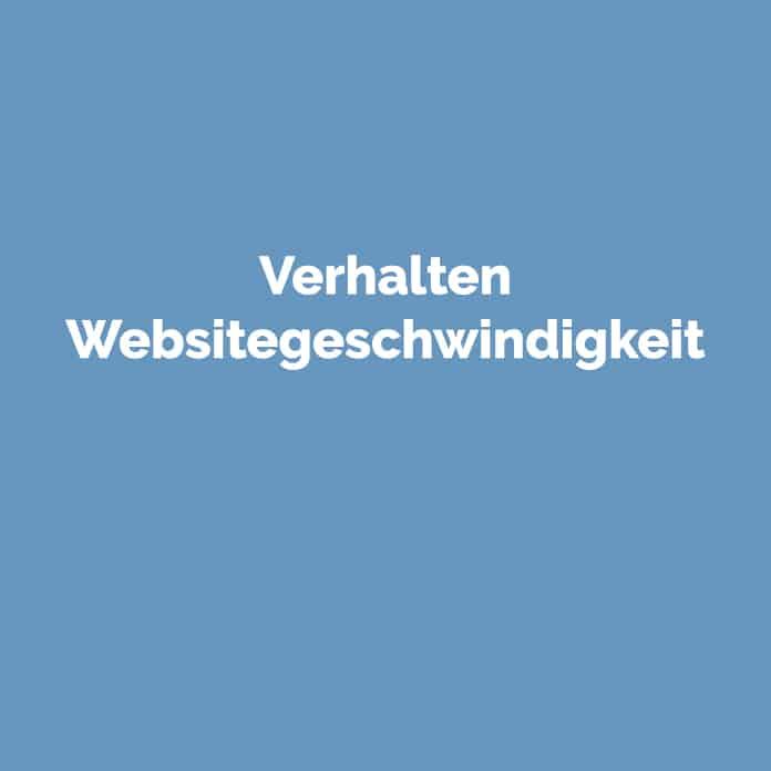 Verhalten Websitegeschwindigkeit | Glossar | perfecttraffic.de