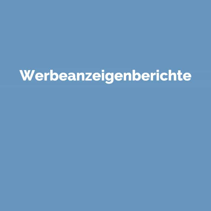 Werbeanzeigenberichte | Online Glossar | perfecttraffic.de
