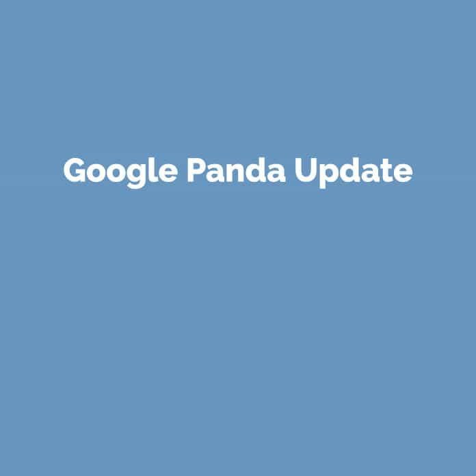 Google Panda Update | Online Glossar | perfecttraffic.de