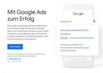 Google Ads Account Erstellung