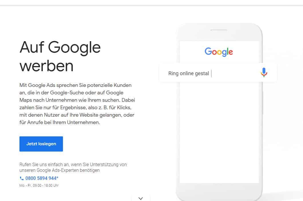 Google Ads Konto einrichten