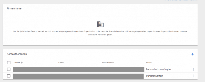 Kontaktperson für Google Analytics