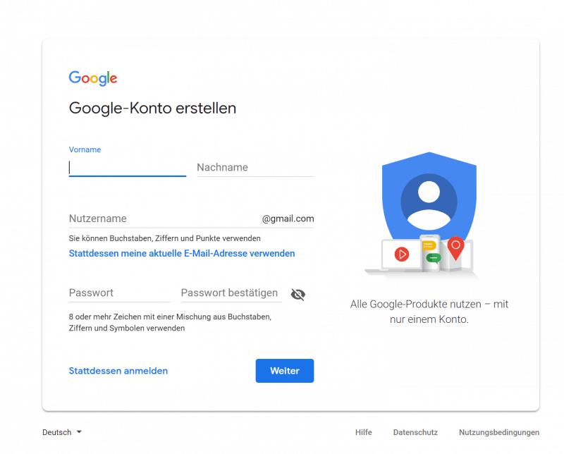 Google Analytics Konto einrichten