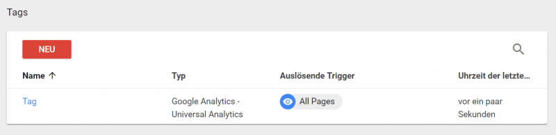 Universal Analytics Tag
