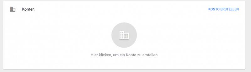 Google Tag Manager Konto