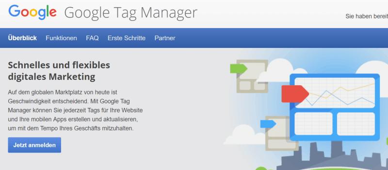 Google Tag Manager einbinden