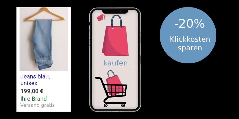 20% Klickkosten mit CSS Shopping sparen