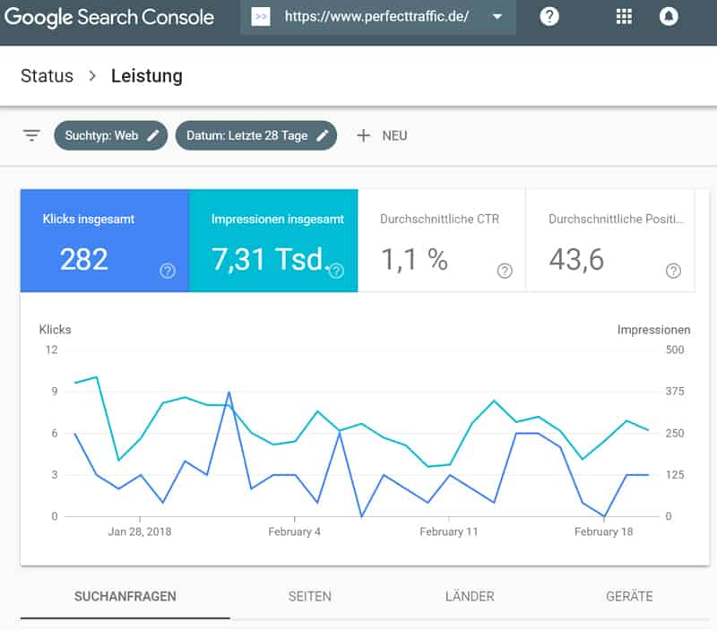 SEO Analyse Google Search Console