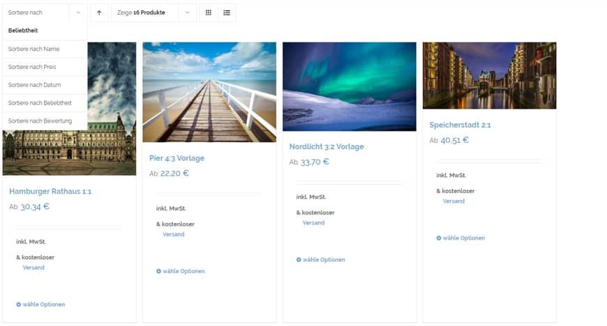 WooCommerce Kategorieseiten